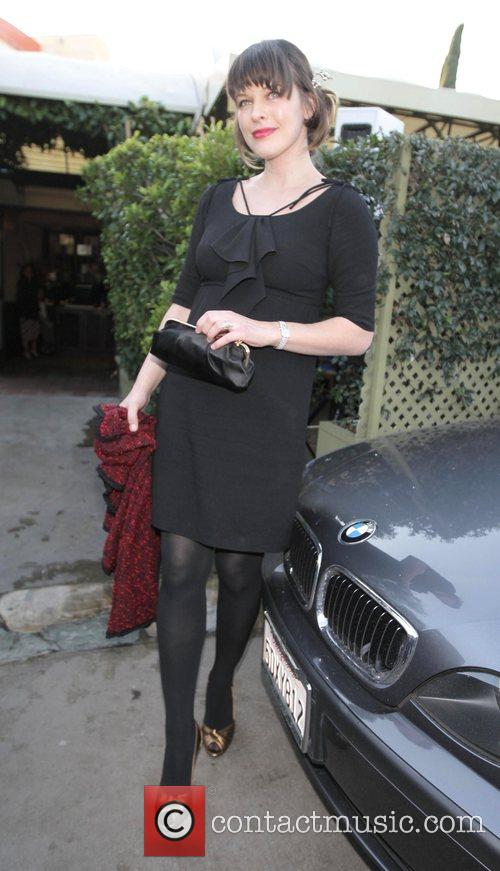 Milla Jovovich leaving Ago restaurant after attending a...