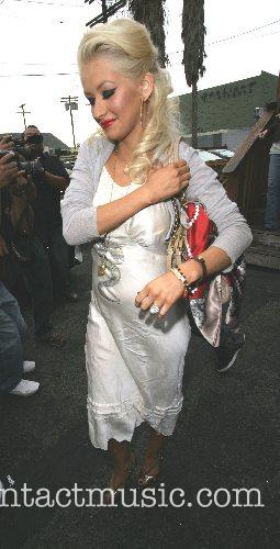 Christina Aguilera  leaving from a lunch date...