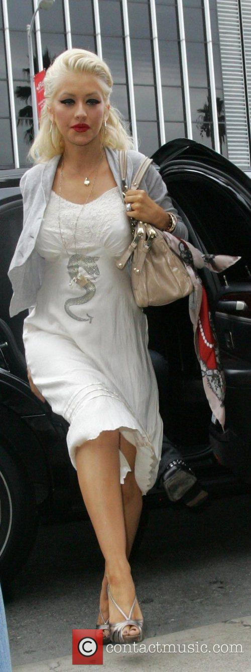 Christina Aguilera leaving from a lunch date Los...