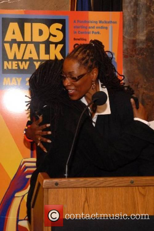 Whoopi Goldberg and Dr. Marjorie Hill, Chief Executive...