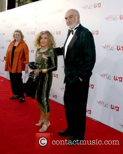 Micheline Roquebrune and Sean Connery 35th AFI Life...