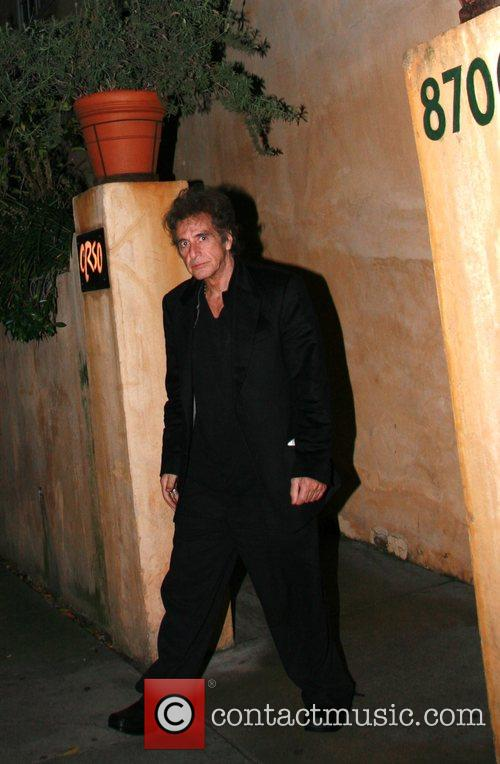 Al Pacino has dinner with friends at Orso...