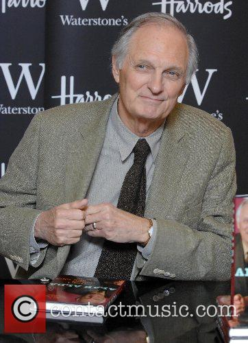 Alan Alda  autographed his latest book 'Things...