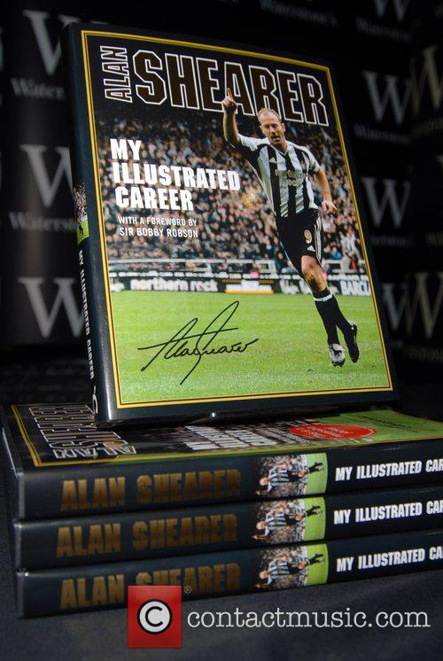 Alan Shearer signs copies of his autobiography 'My...