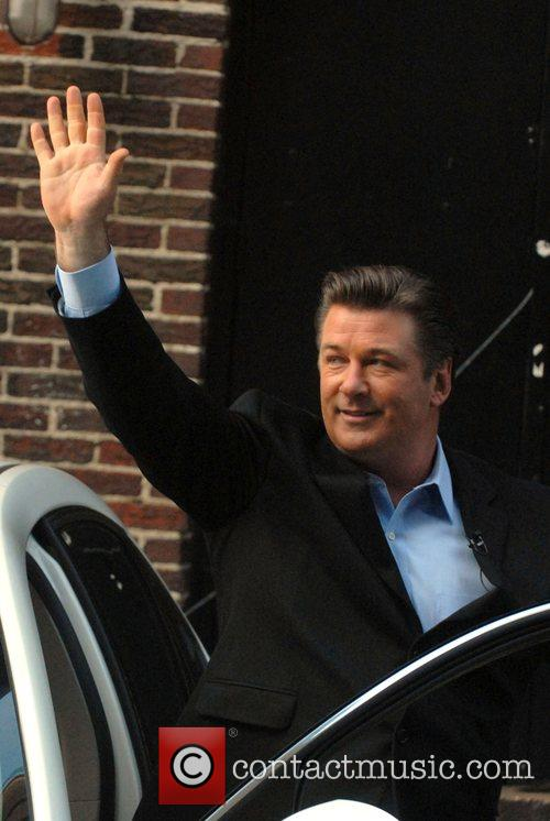 Alec Baldwin performs a parking skit for the...