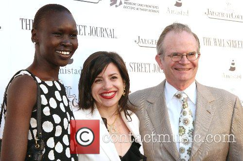 Alek Wek and guests Launching of Alek Wek's...