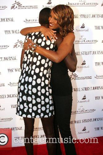 Alek Wek and Iman Launching of Alek Wek's...