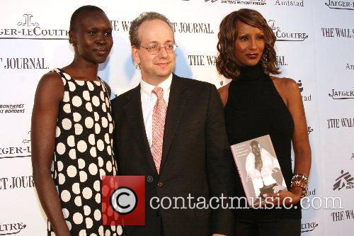 Alek Wek, Iman, and guest Launching of Alek...