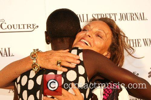 Alek Wek and Diane von Furstenberg Launching of...