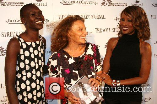 Alek Wek and Diane von Furstenberg, Iman Launching...