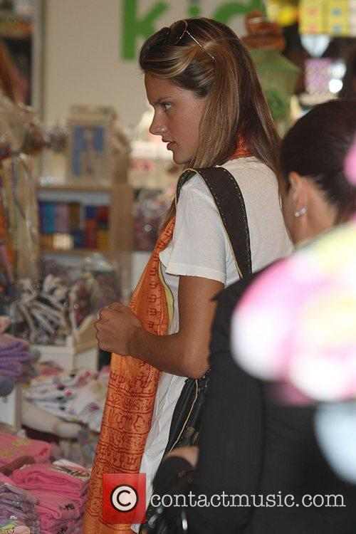 Alessandro Ambrosio shopping in 'Kitson for Kids' with...