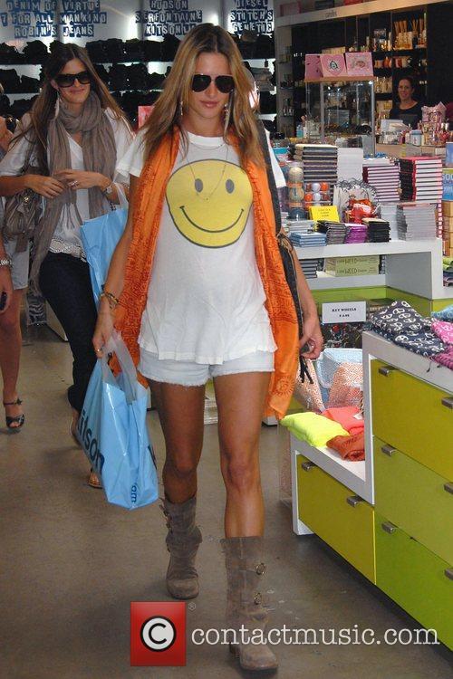 Pregnant Alessandra Ambrosio shops at Kitson Kids with...