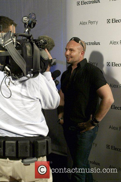 Alex Perry being interviewed prior to his show...
