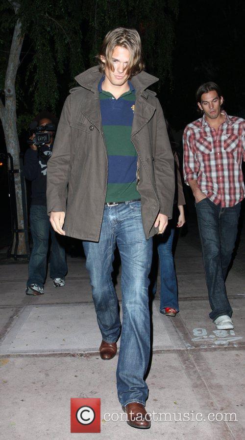 Former boyfriend of Paris Hilton leaving S Bar...