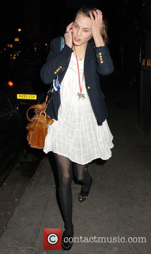 British TV presenter Alexa Chung leaving the Soho...