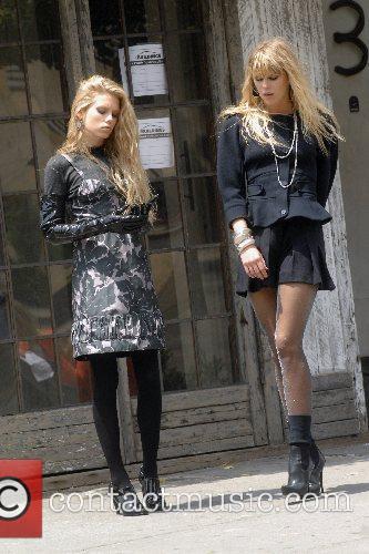 Alexandra Richards and Theodora Richards at a photoshoot...