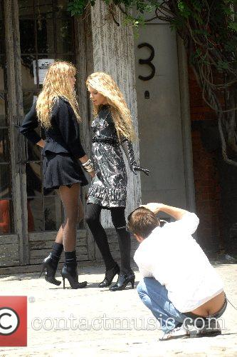 Alexandra Richards and Theodora Richards at a photoshoot...