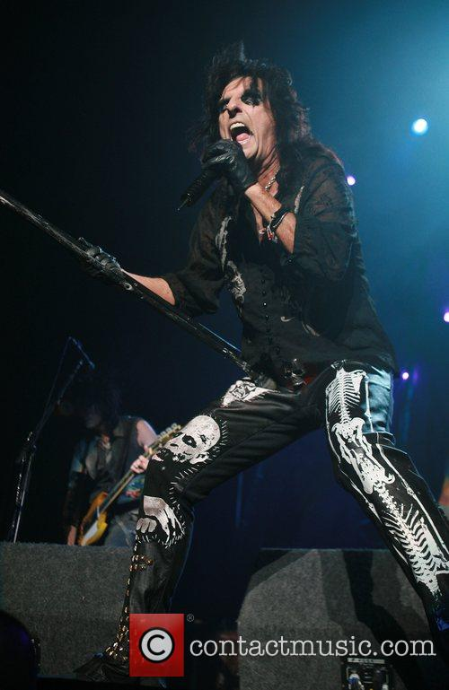 Alice Cooper performing at the Nottingham Arena Nottingham,...