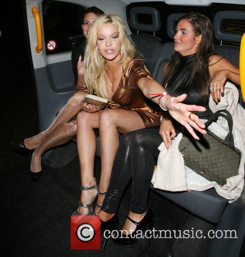 Alicia Douvall leaving Funky Buddah nightclub. As she...