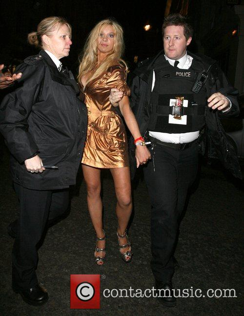 alicia douvall leaving funky buddah nightclub. as she got into her taxi 1722188