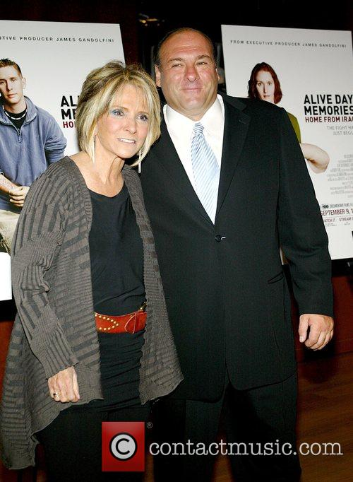 Ames Gandolfini and Shelia Nevins (the president of...