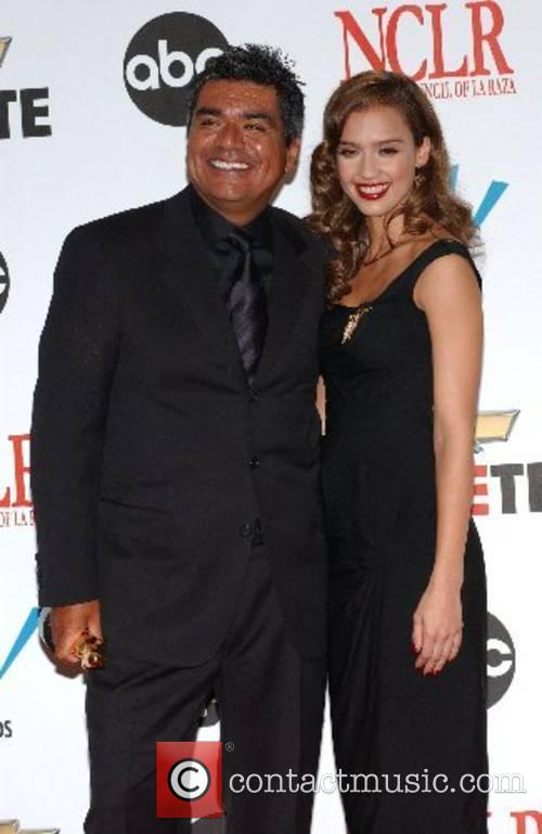 George Lopez and Jessica Alba The 2007 Almas...