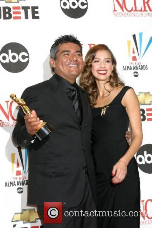 Jessica Alba and George Lopez The 2007 Almas...