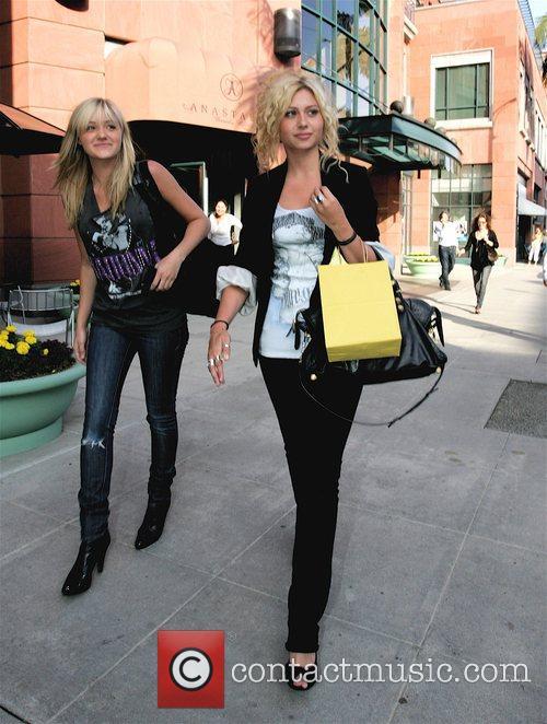 Alyson Michalka and Amanda Michalka, leaving Anastasia Beverly...