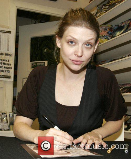 Amber Benson  signing autographs at 'The Forbidden...