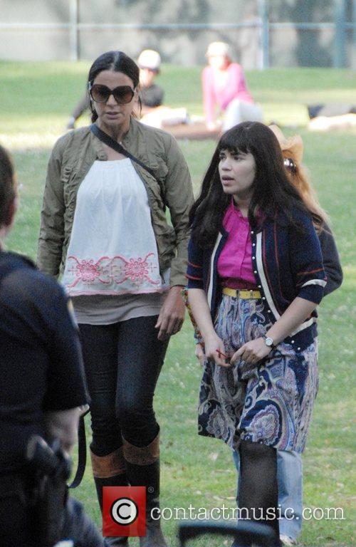 America Ferrera filming for US television show 'Ugly...