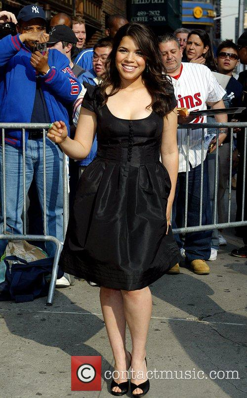 America Ferrera and David Letterman 16