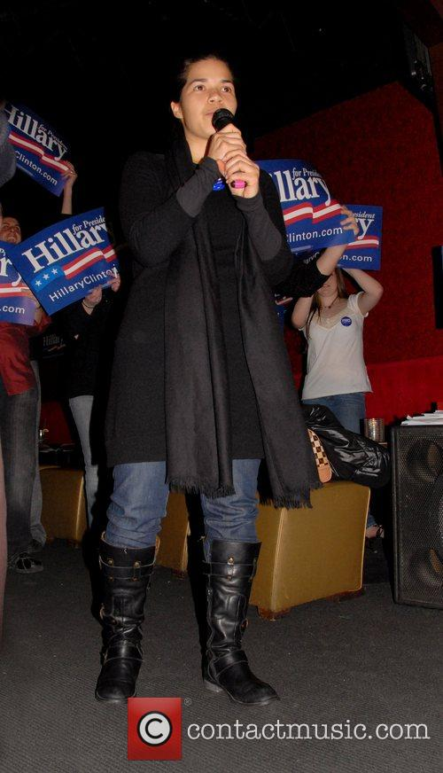 Actress America Ferrera  attends a voter registration...