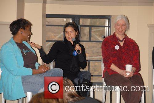 America Ferrera attends a seminar called 'Breaking Barriers:...