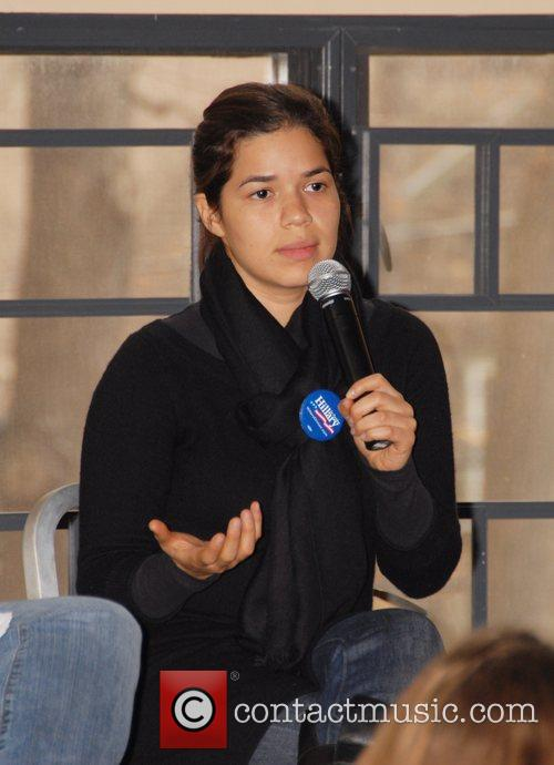 Attends a seminar called 'Breaking Barriers: Women in...