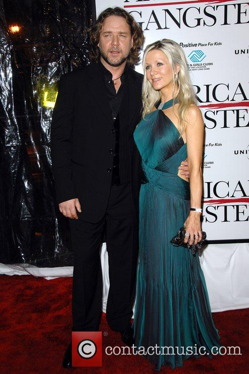 Russell Crowe, Danielle Spencer New York Premiere of...
