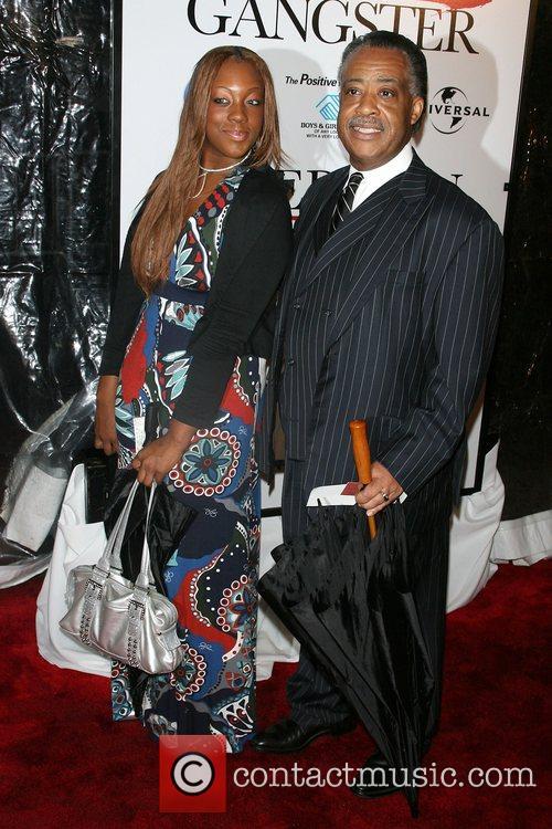 Rev. Al Sharpton and daughter New York Premiere...