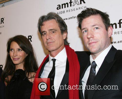 Christy Turlington, Bobby Shriver and Ed Burns amfAR...