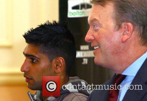 Amir Khan and His Promoter Frank Warren 5
