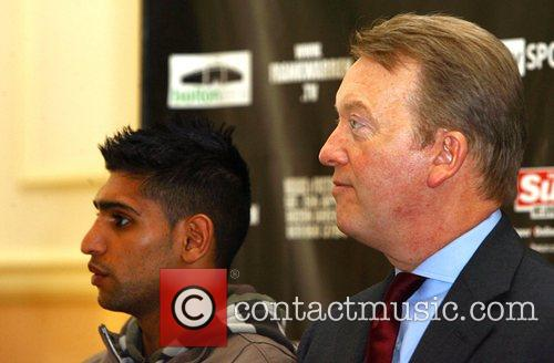 Amir Khan and His Promoter Frank Warren 2