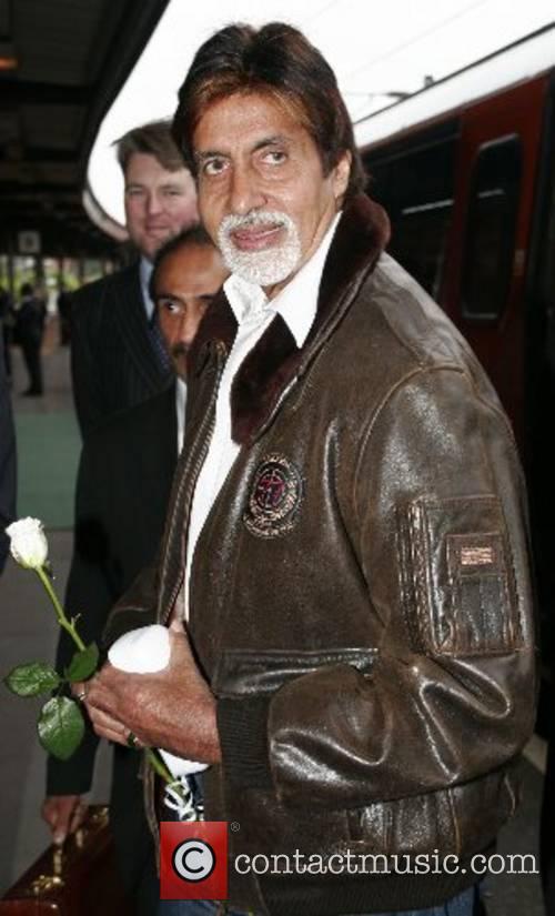 Amitabh Bachchan  the Bollywood legend arrives at...
