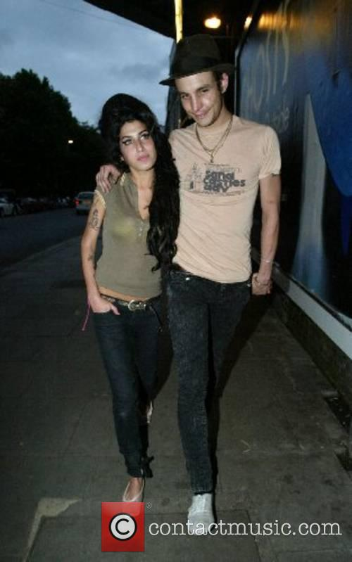 Newlyweds Amy Winehouse and Blake Fielder-Civil leaving the...