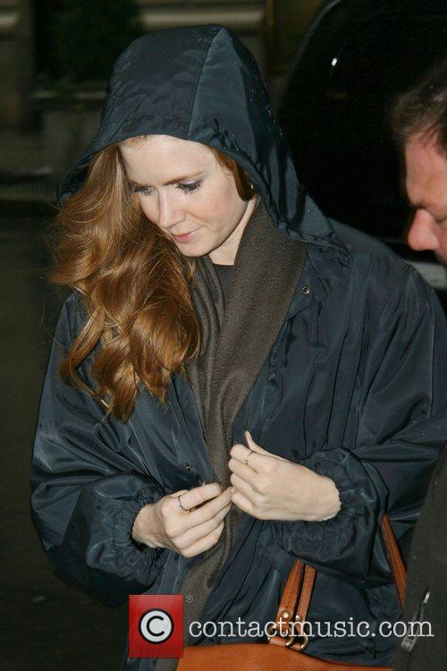 Enchanted star Amy Adams arrives at her hotel...
