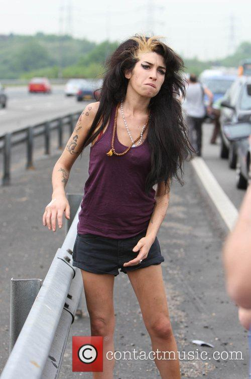 Amy Winehouse goes for a wander on the...