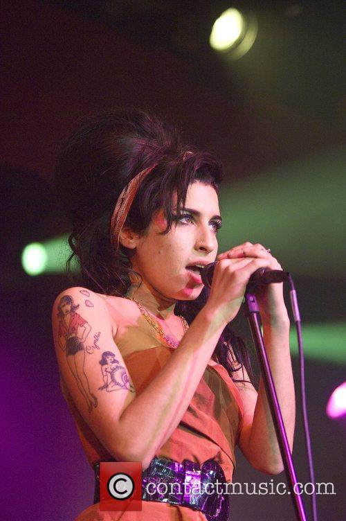 Amy Winehouse performing at the Barrowlands