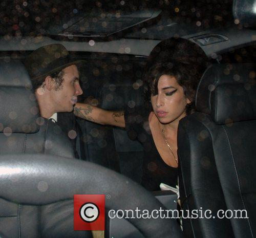 Amy Winehouse and Blake Fielder-Civil leaving the Hawley...