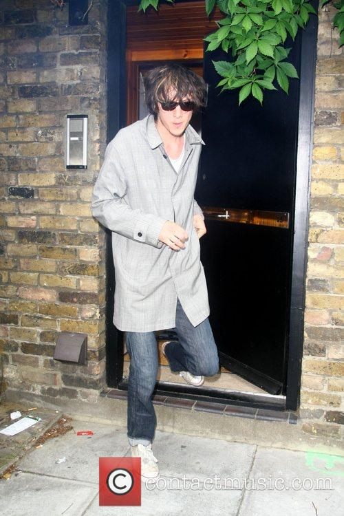 Kristian Marr leaving Amy Winehouse's house London, England