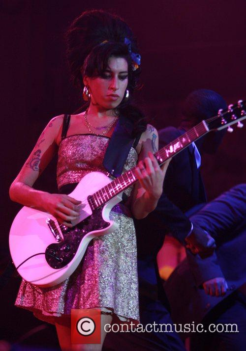 Amy Winehouse performing live in concert at the...