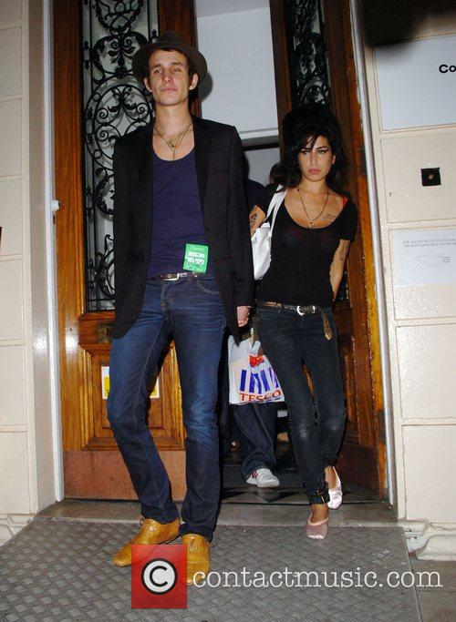 Amy Winehouse and Blake Fielder-Civil arriving to perform...