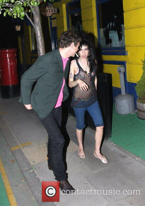 Amy Winehouse leaving 'The Good Mixer' in Camden,...