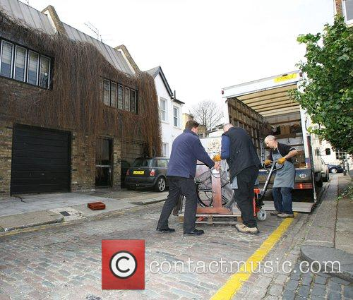 Removal men from the auction house Bonhams removing...